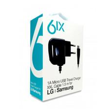 6IX 1A Micro USB Сетевое зарядное устройство