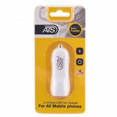 ATS 2.1A Двойное USB автомобильное зарядное устройство (адаптер)