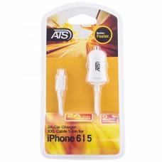 ATS 2.1A iPhone 6 Автомобильное зарядное устройство со встроенным Lightning кабелем