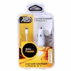 ATS 2.4A iPhone SE/6/6S/6 Plus Автомобильное зарядное устройство со съемным Lightning кабелем