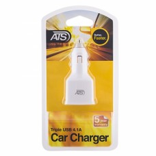 ATS 4.1A Тройное USB автомобильное зарядное устройство