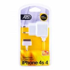 ATS 1A iPhone 4/4S Сетевое зарядное устройство со встроенным 1.5M кабелем