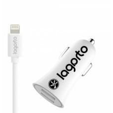 iPhone 7/8/X Автомобильное зарядное устройство 2A Dual USB Port